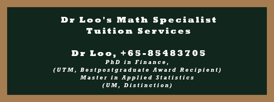 Secondary Math Home Tuition Singapore