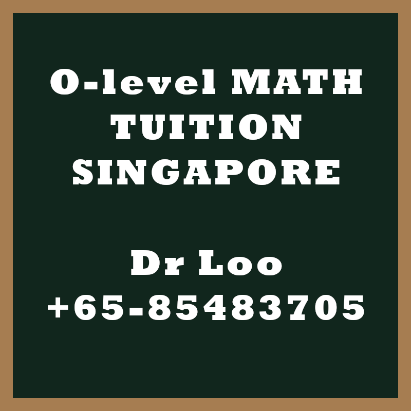 O level Math Tuition Singapore